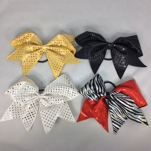 4 Sequin CHEER Bows